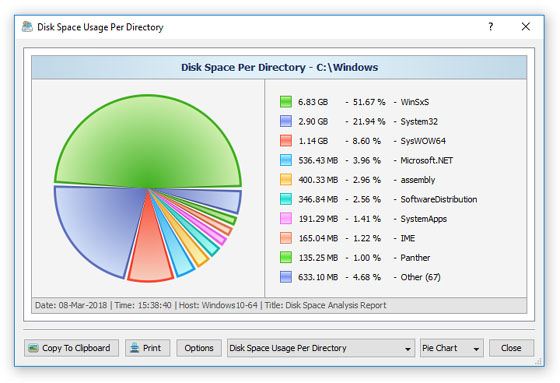 Drive Space Analyzer : Diskboss data management solution gui screenshots