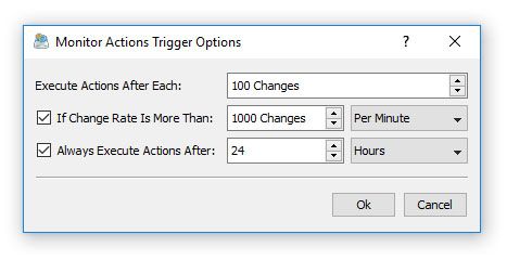 Disk Change Monitoring Action Triggers