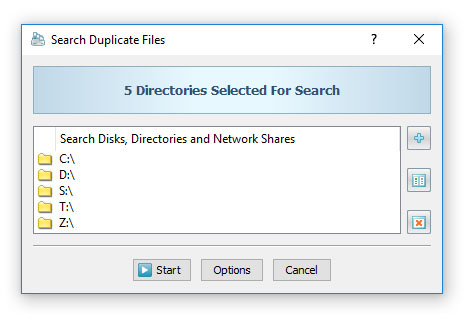 DiskBoss Search Duplicate Files