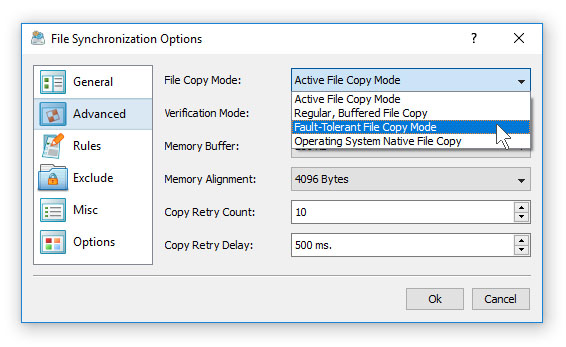 File Synchronization Performance