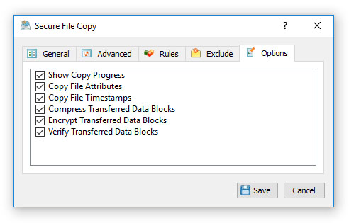 Secure File Copy Options