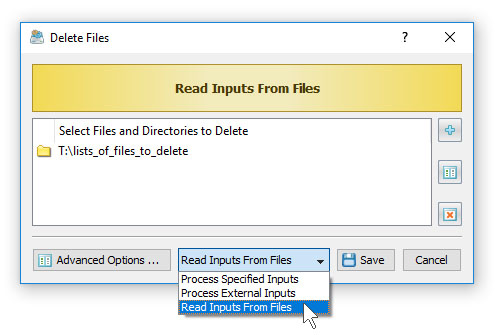 Delete Files Listed In Text Files