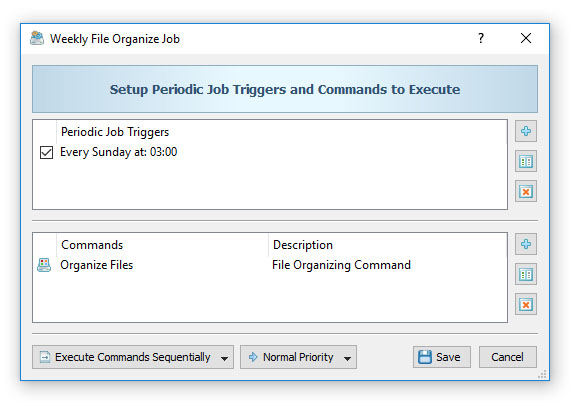 File Organizing Periodic Job