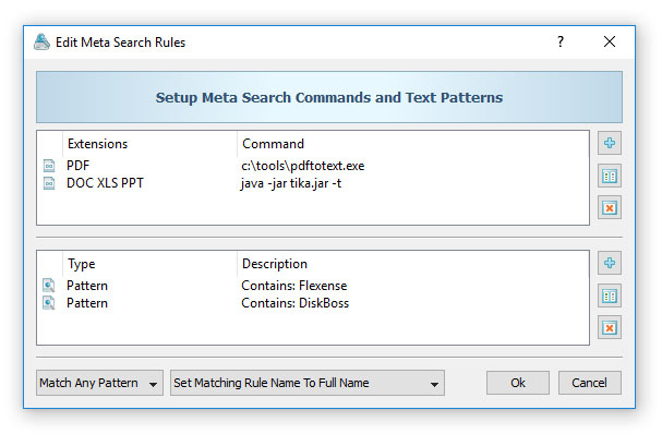 Search Files Using External Commands