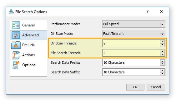 DiskBoss - Data Management Solution - File Search Performance