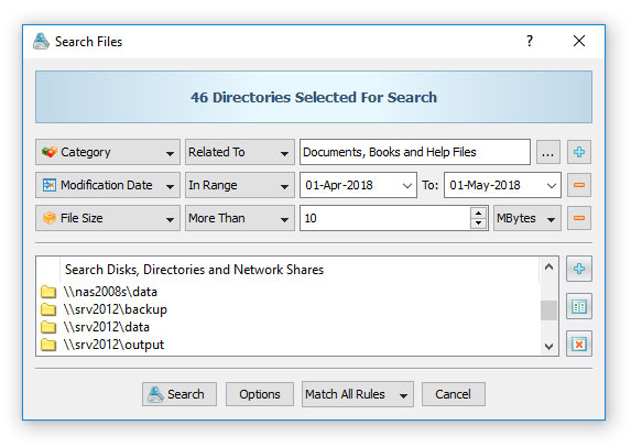 Network File Search Command