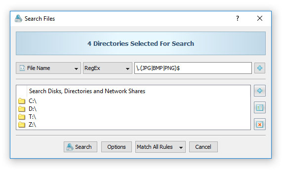 Search Files By RegEx